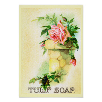 Tulip Soap Advertisement Poster