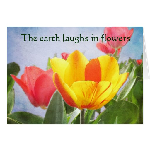 Tulip Spring Joy Earth Day Greeting Cards