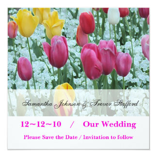 Tulip Spring Wedding Save the Date Invitations