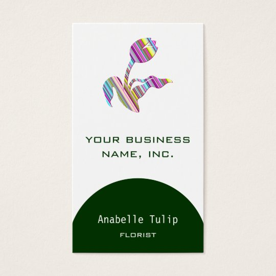 Tulip Stripes (Spring) Business Card
