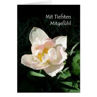 'Tulip' Sympathy Card - German Greeting