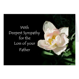 Tulip Sympathy Card - Loss of Father