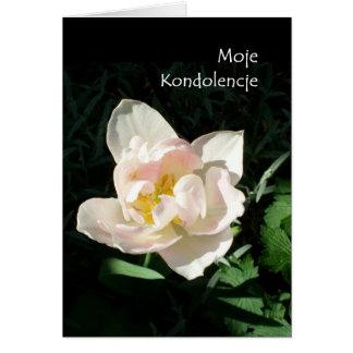 'Tulip' Sympathy Card - Polish Greeting