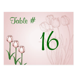 Tulip Table Number Card