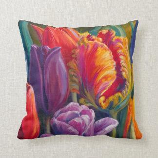 Tulip Tales Throw Pillow