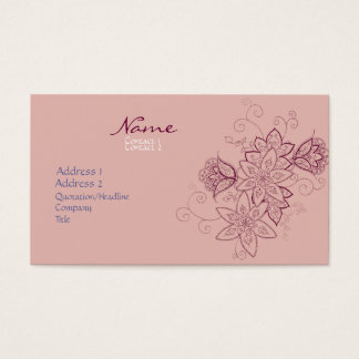 Tulip Tattoo Business Cards (Rose)