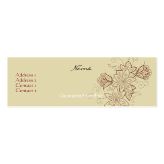 Tulip Tattoo Profile Cards (Sand) Double-Sided Mini Business Cards (Pack Of 20)