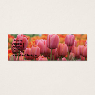Tulip Template Skinny Mini Business Card
