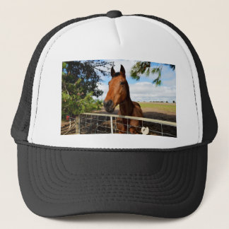 Tulip The Horse Waiting For A Ride, Trucker Hat