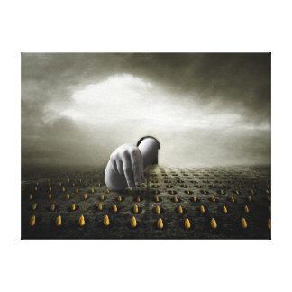 Tulip thief 2013 canvas print