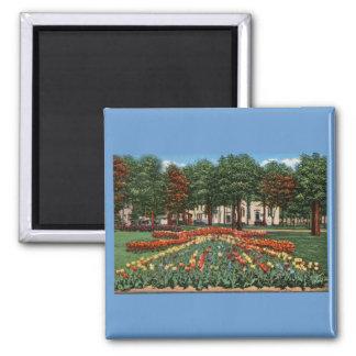 Tulip Time Holland, Michigan 2 Inch Square Magnet