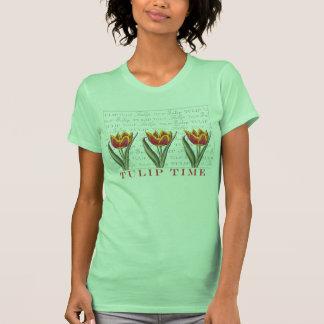 Tulip Time Pretty Vintage Look Gardner's T-Shirt