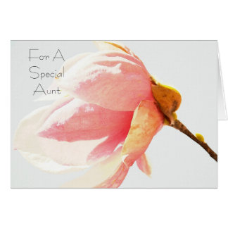 Tulip Tree Flower Special Aunt Card