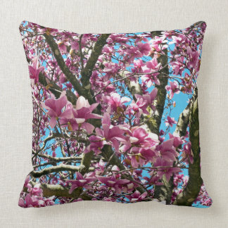 Tulip Tree Throw Pillow