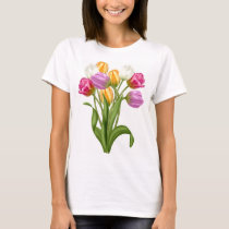 Tulip TShirt For women spring flowers