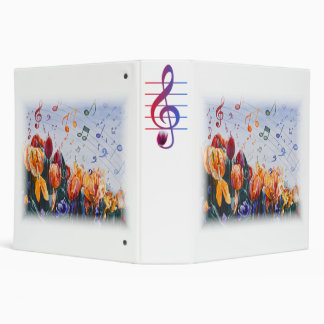 Tulip Tune 3 Ring Binder