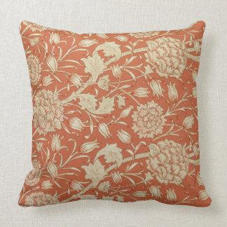 Tulip wallpaper design, 1875 throw pillow