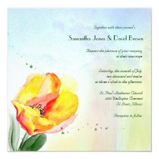 Tulip Watercolor Wedding Invitation
