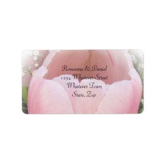 Tulip Wedding Address Label