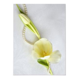 Tulip wild duck pearls card