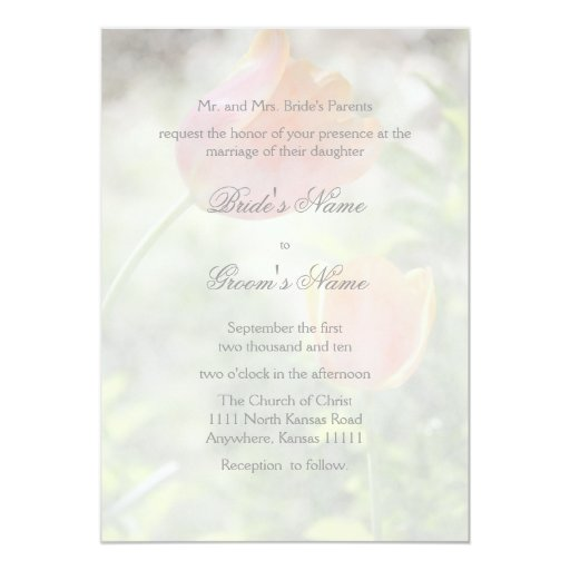 Tulip With Verse Wedding Card