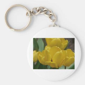 tulip,yellow keychain
