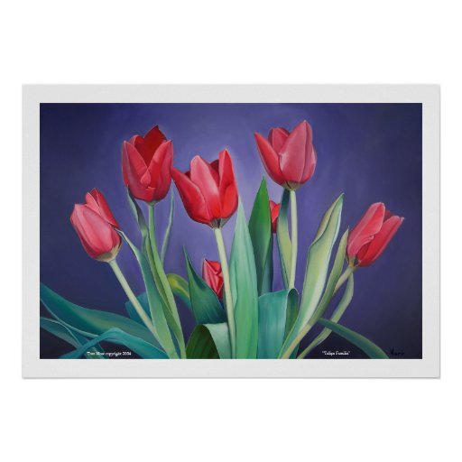 """""""Tulipa Familia"""" by Tom Norr Posters"""