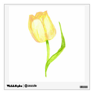 Tulipán amarillo vinilo