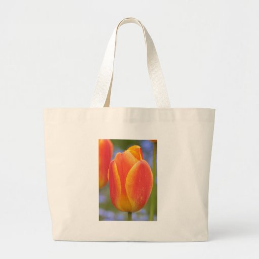 Tulipán anaranjado bolsa tela grande
