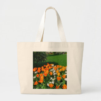 Tulipán anaranjado en productos múltiples bolsas lienzo