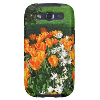 Tulipán anaranjado en productos múltiples samsung galaxy s3 coberturas