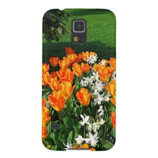 Tulipán anaranjado en productos múltiples carcasa para galaxy s5