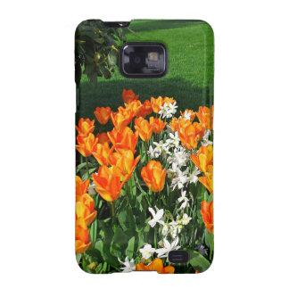 Tulipán anaranjado en productos múltiples samsung galaxy SII fundas