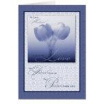 Tulipán azul del aniversario de boda del marido felicitaciones