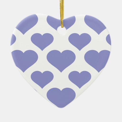Tulipán básico de la violeta del corazón ornamento de navidad