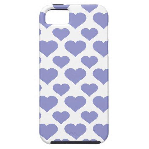 Tulipán básico de la violeta del corazón iPhone 5 carcasas