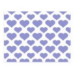 Tulipán básico de la violeta del corazón tarjetas postales