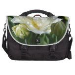 Tulipán blanco bolsas para portátil