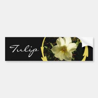 Tulipán blanco pegatina para auto