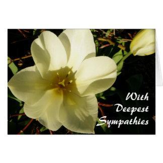 Tulipán blanco tarjeta de felicitación