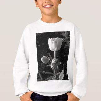 Tulipán blanco y negro sudadera