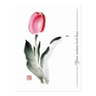 Tulipán chino oriental clásico de la flor de la ti tarjetas postales