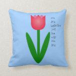 Tulipán coloreado almohada
