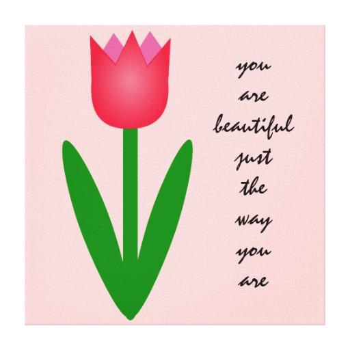 Tulipán coloreado impresiones en lona