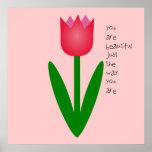 Tulipán coloreado poster