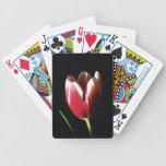 Tulipán de la hierbabuena baraja de cartas