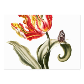 Tulipán de la primavera floral tarjetas de visita grandes