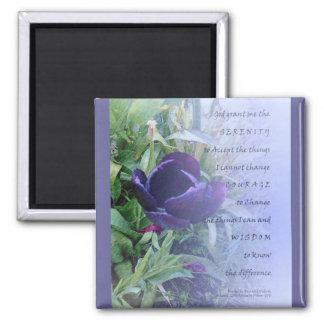 Tulipán de la púrpura del rezo de la serenidad iman para frigorífico