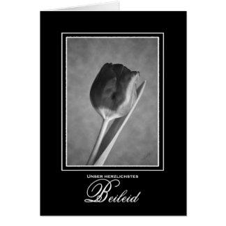 Tulipán de la tarjeta de condolencia de la lengua