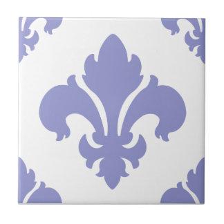 Tulipán de la violeta de la flor de lis 2 tejas  ceramicas